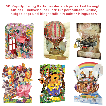 3 D Swing Cards
